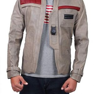 Star Wars The Force Awakens Jacket star wars jacket star wars resistance jacket finn leather jacket Fin Jacket Star Wars Poe Dameron Brown Leather Jacket