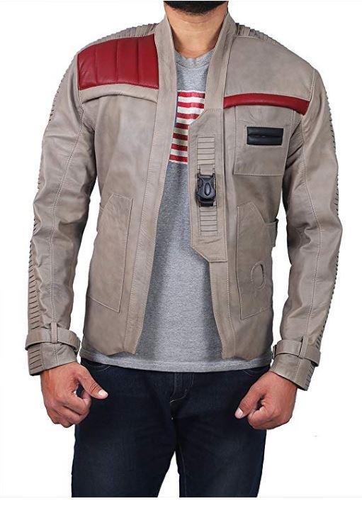 Star Wars The Force Awakens Jacket star wars jacket star wars resistance jacket finn leather jacket Fin Jacket Star Wars Poe Dameron Brown Leather Jacket