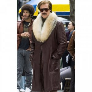 Anchorman 2 The Legend Continues Ron Burgundy Leather Jacket Fro Men