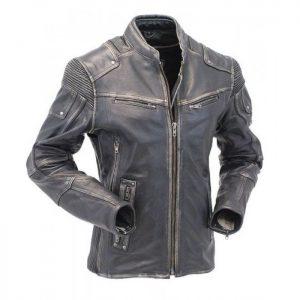 Motorcycle Cafe Racer Vintage Distressed Leather Jacket