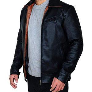 Cafe Racer Shawn Ashmore Game Quantum Break Black Leather Jacket Men