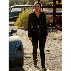 Agent Of Shield Chloe Bennet Skye Black Leather Jacket