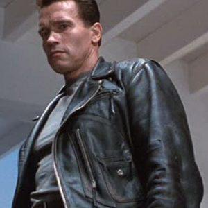 Terminator Vintage Distressed Biker Leather Jacket