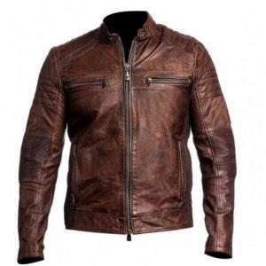 Distressed Brown Jacket, brown leather jacket men, men's brown leather jacket, Brown Leather Biker Jacket for Men, vintage leather racer jacket, best cafe racer leather jacket