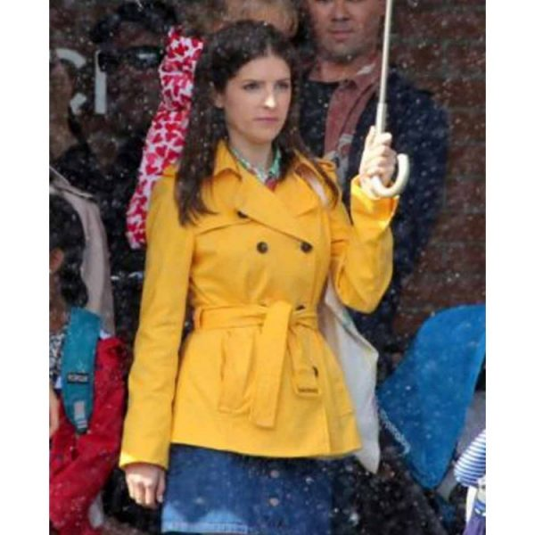 A Simple Favor Anna Kendrick Stephanie Smothers Yellow Cotton Jacket