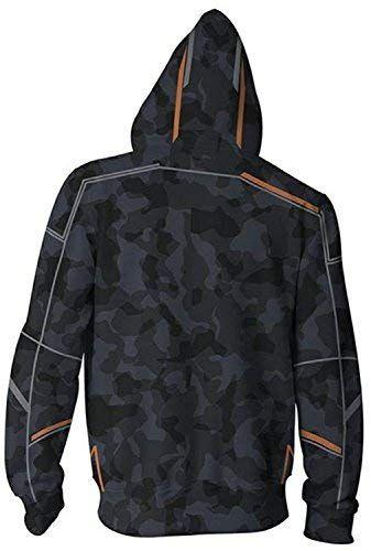 Avengers Infinity War Iron Man Tony Stark Camouflage Hoodie Jacket for Men