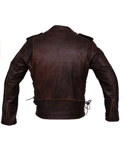 Marlon Brando Brown Leather Motorcycle Jacket