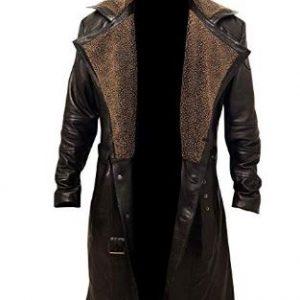 German WW2 Fur Long Trench Coat, ww2 German coat, German Trench coat, WW2 German Fur Trench Coat, German WW2 Fur Brown Coat