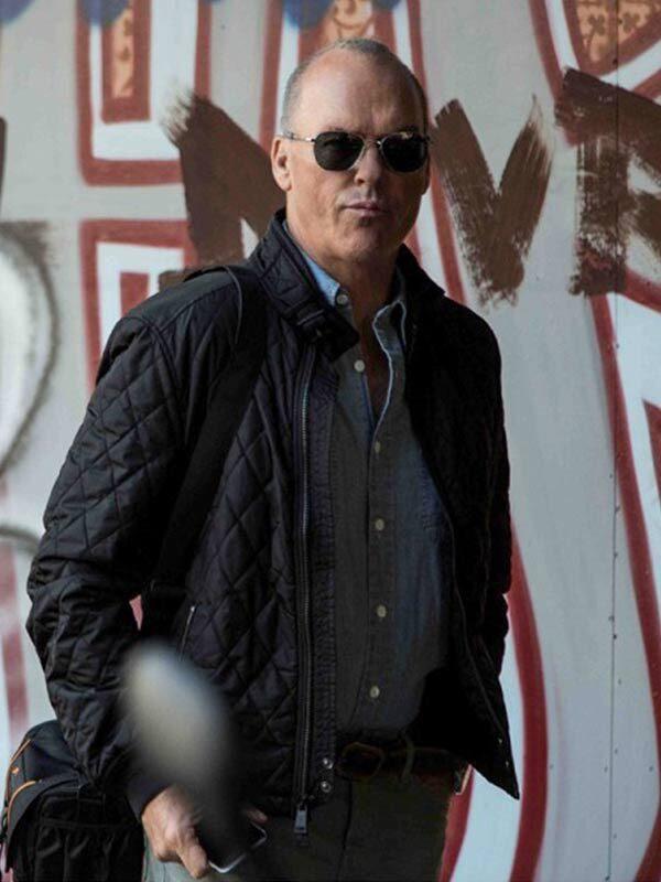 American Assassin Stan Hurley ( Micheal Keaton ) Satin Bomber Jacket