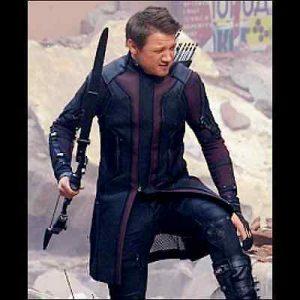 Avengers Age of Ultron Hawkeye Genuine Leather Coat