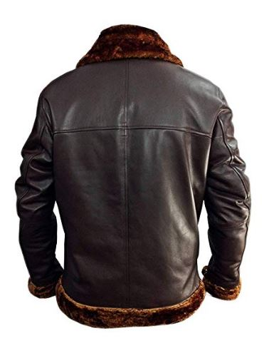 Products Mens Bomber Shearling Flying Leather Jacket - Men Brown RAF Aviator Jackets