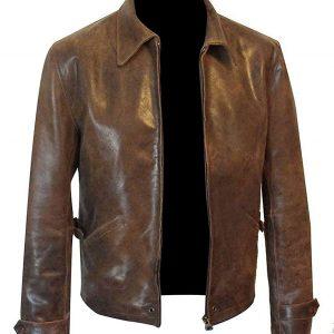 Dark Chocolate Brown Leather Jacket James Bond jacket james bond barbour jacket skyfall barbour jacketjames bond leather jacket