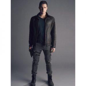 Dark Matter Marc Bendavid Fur Collar Black Leather Jacket