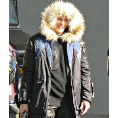 Cold Gun Leo Snart Legends Of Tomorrow Winter Hooded Parka Bomber Jacket | Halloween Costume