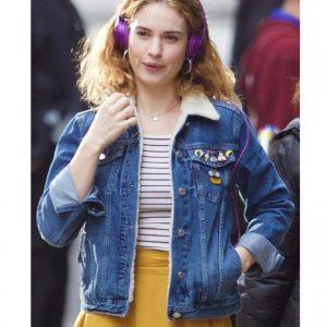 Baby Driver Lily James Debora Blue Denim Jacket