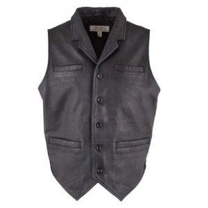 Ryan Michael Old West Retro Black Leather Vest Ryan Michael Vest ryan michael west retro vest West Retro Black Leather Vest west retro vest