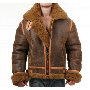 B3 shearling jacket for men, ww2 b3 bomber jacket, vintage aviator jacket, faux shearling aviator jacket, B3 Aviator Flight Bomber Hoodie jacket