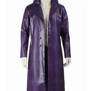 Joker Purple Crocodile Coat