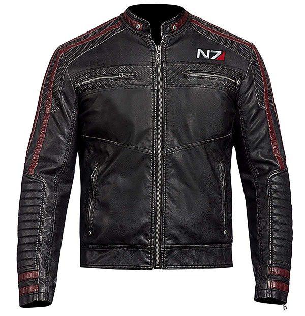 Mass Effect Leather Jacket, Mass Effect N7 Leather Jacket, N7, N7 Leather Jacket, Mass Effect 3 leather jacket, N7 leather jacket for men