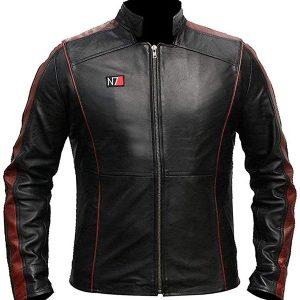 Mass Effect Leather Jacket N7 Jacket Mass Effect N7 Leather Jacket Jacket Craft N7 leather jacket for men Mass Effect 3 leather jacket