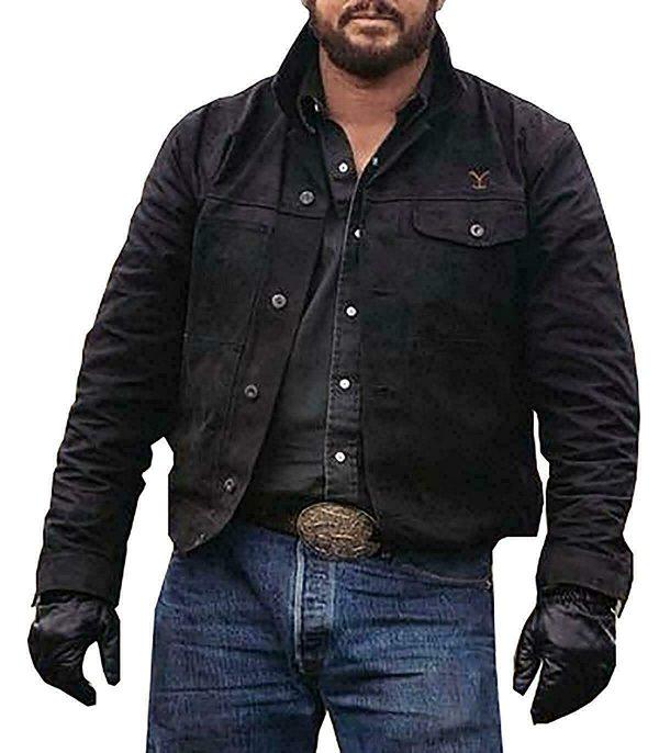 rip wheeler yellowstone jacket, yellowstone rip black jacket, yellowstone rip wheeler jacket, yellowstone river cotton jacket, cole hauser black cotton jacket